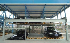 PSH pit type automated 3-layer smart car parking system