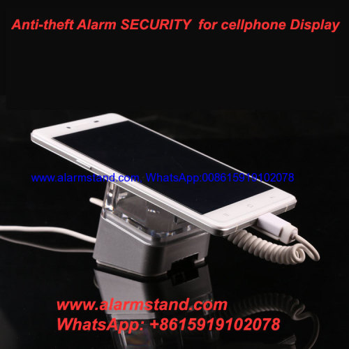 COMER hot sales new security display alarm stands for mobile phones in retail shops