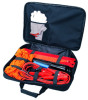 8 pcs roadside emergency safety car tool kits set with black bag packing