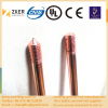 variable thickness copper bonded earth rod