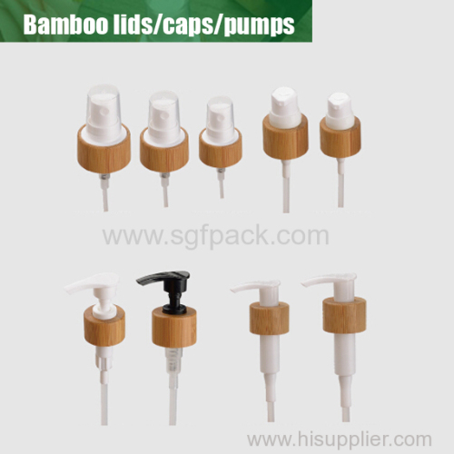 Pump sprayer bamboo lids overview