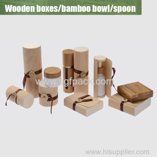 Wooden box for bottles/jars overview