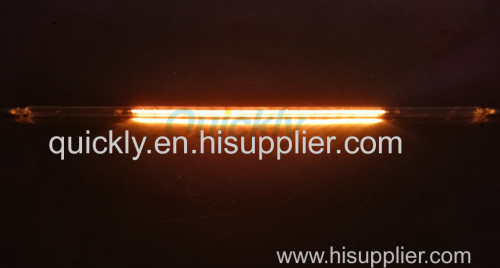 High infrared light quartz heater tube