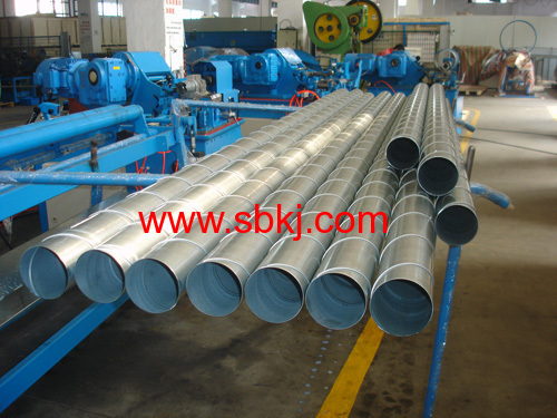 galvanised spiral ducting machine