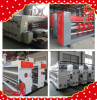 Lead edge feeding 4color printing machine with slotting and die cutting/High speed corrugated cardboard making machine