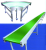 customized PVC/PU belt conveyor straight 45/90/180/360 degree incline conveyors