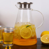 Handmade heat resistant glass juice pots glass teapot cold water glass jugs