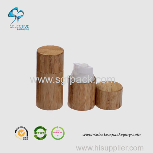 Plastic Airless Bottle Bamboo wooden Packaging