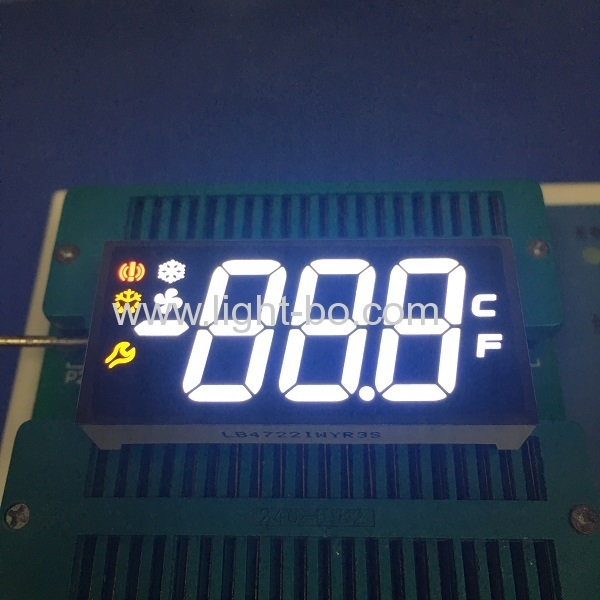 The main characteristics of the seven segment led numeric displays