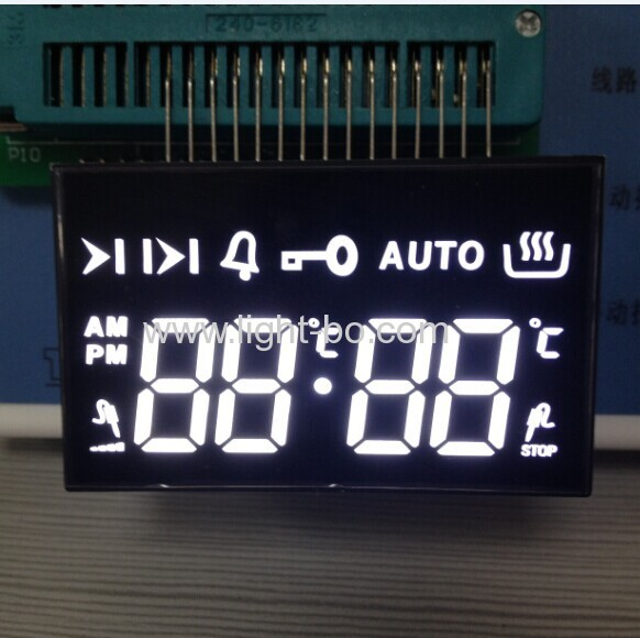 Custom 7 segment led display for multifunction digital oven timer control with +120℃ working temperature
