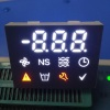 Customized enhanced background multicolour 7 segment led display with blue led backlight