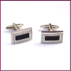 rectangle shine Stainless Steel Cufflink for men's decoration