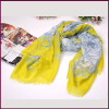 Hot Selling 2017 Colorful Fashionable Polyester Printed Voile Scarf for Women