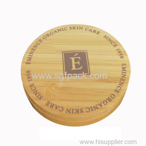 Wood rotating powder case magnetic buckle cap
