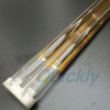 Medium wave golden quartz infrared heating tube