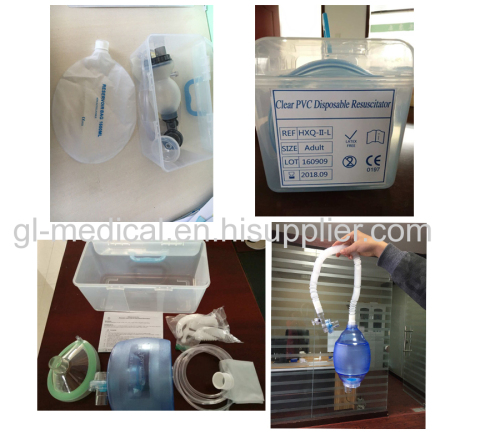 Medical consumable breathing items Breath resuscitator kit
