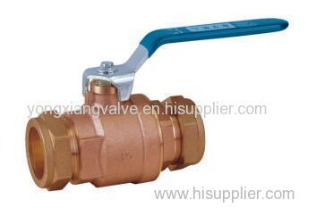 BRONZE BALL VALVE WITH COPRESSION