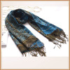 Large Scarf Polyester Jacquard Paisley Pattern Scarf for Women