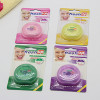 Round shape dental floss dispenser 50m mint waxed dental floss super thin floss with Terylene Floss OEM accept