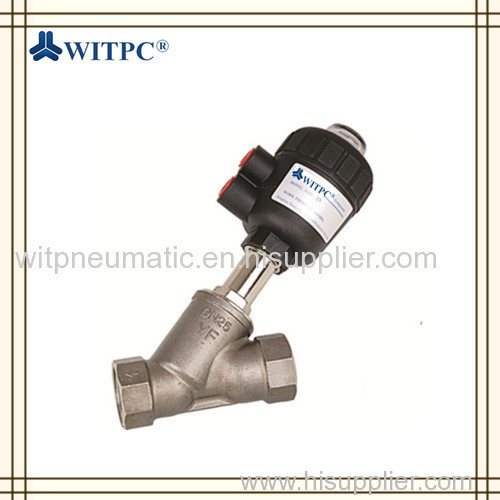 WZF Series SS304 Single Acting Angle Seat Valve