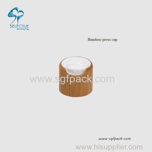 100ml frosted Glass bottle with bamboo press cap
