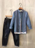 mens washed jeans shirt