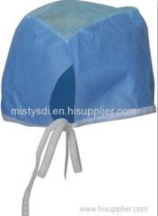 Protective disposable elastic headband bouffant cap with different colors