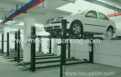 Four column car parking lift system