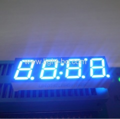 Ultra blue 4 digit 0.39inch common cathode blue 7 segment led display for instrument panel