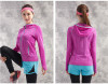 Women 3D digital seamless sports jacket with zipper