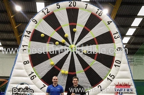 Inflatable footaball darts game