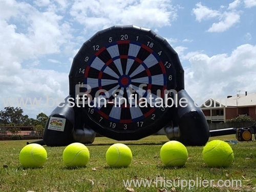 Inflatable velcro soccer darts