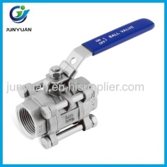 3PC F/F STAINLESS STEEL BALL VALVE