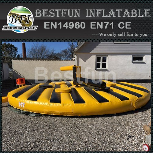 Bouncy inflatable sweeper zone game