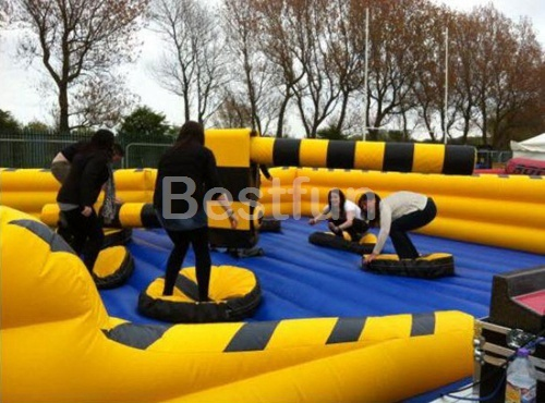 Customized inflatable meltdown challenge games
