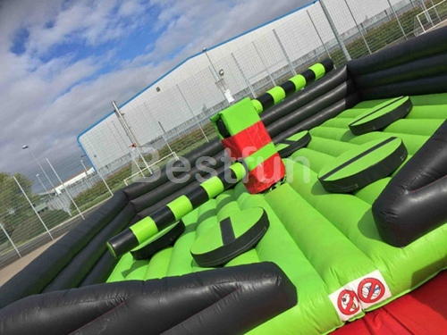 Inflatable sweeper Eliminator mechanical rodeo sport game