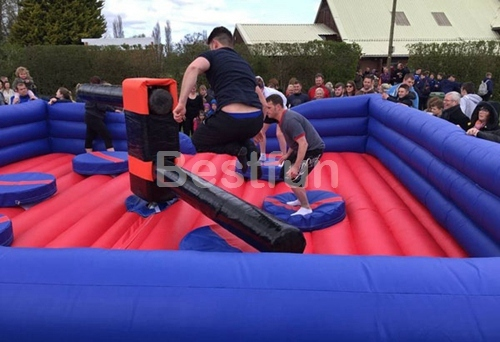 Jumping bar Wipeout Eliminator Inflatable Game