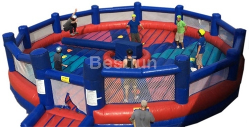 Twister inflatable meltdown game