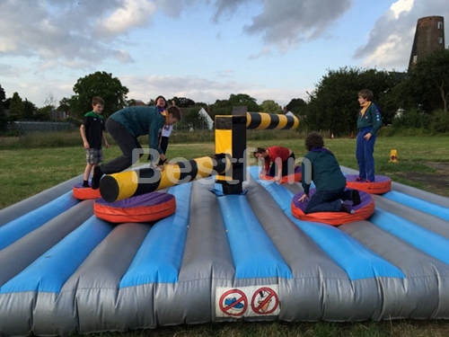 Wipeout obstacle inflatable sweeper game