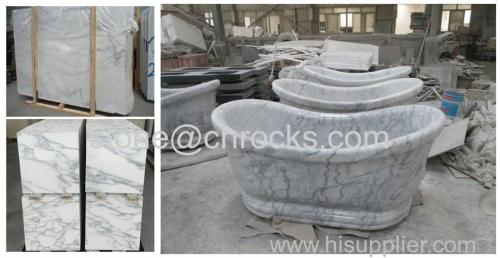 china carrara white marble bathtub