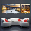 Beautiful landscape oil paintings 3 panel Venice sunset painting on canvas printed modern art picture