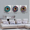 Modern wall painting for home decoration 3 piece framed oil painting national style coffee cup still life printings