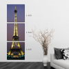 Landscape canvas oil paintings 3 piece Eiffel Tower Paris landscapes wall art printed painting canvas