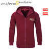 Custom cotton flece maroon corporate hoodie