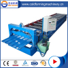 PLC Controlling Color Coated Steel Glazed Tile Roof Roll Forming Machine