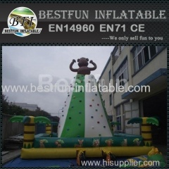 popular monkey inflatable rock climbing for kids