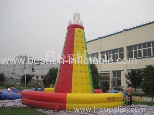 Large cheap inflatable climbing wall