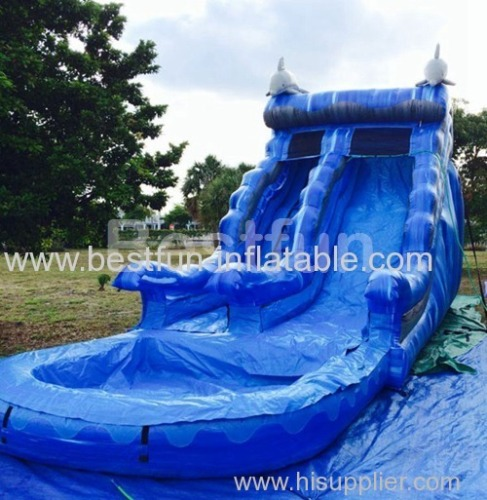 Inflatable Waterslide Blue Dolphin water slide