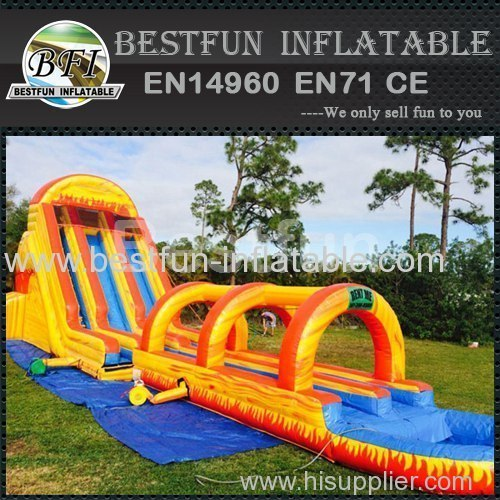 Inflatable Waterslide Fire Ball Long slide
