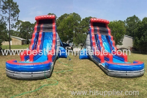 Inflatable Waterslide Red Wave
